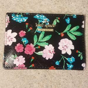 Kate Spade floral print card holder